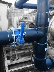landfill gas pipework